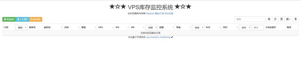 VPS库存监控系统 --- 实时把握库存信息